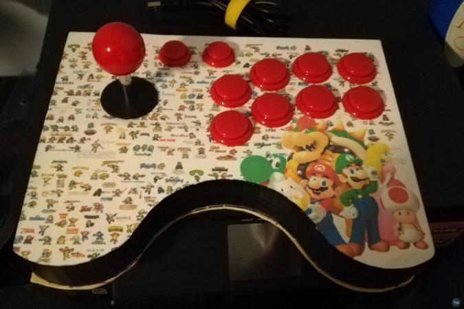 Arcade joystick for 30 mm button