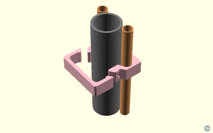 3 in 1 Plumbing Bracket for Copper and PVC pipes.