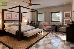 Modern Bedroom Checkered Tiles Design Ideas