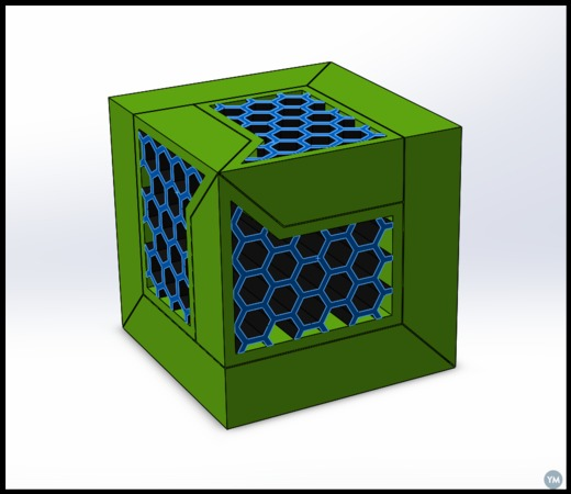 3 Piece Slideways Puzzle (With Honeycomb Inserts)
