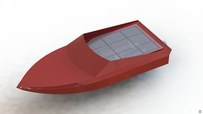 Version 3: 3D printed Jetsprint jet boat