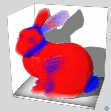 Stanford bunny voxel model
