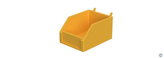 Pegboard box organizer