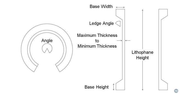 Curved Lithophane Design Tool