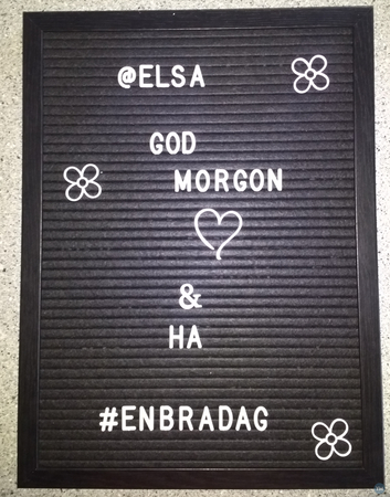 Letter board additional graphics