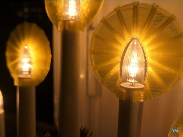 Halo for electric Advent candelabra or christmastree lights