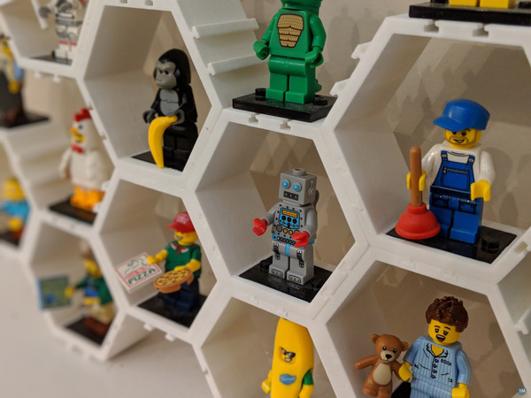 "Modular Hexagonal ""Danish Interlocking Block"" Minifigure Display"