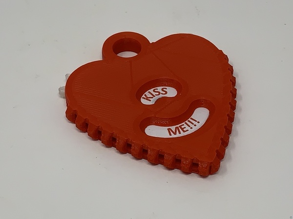 Geared Heart Message Pendant