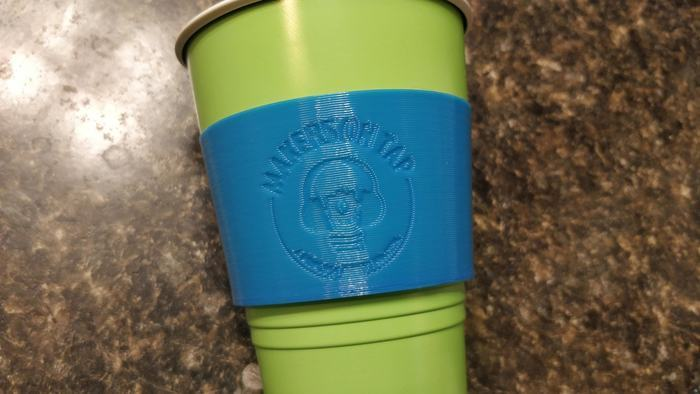 Makers On Tap recessed 12oz Cup Sleeve