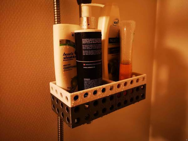 Hair / Lotion / Soap bottle holder shower ( 2 parts )