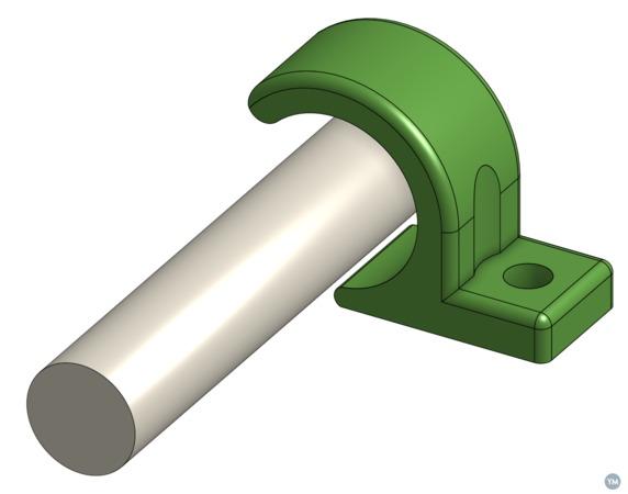 PVC pipe mount