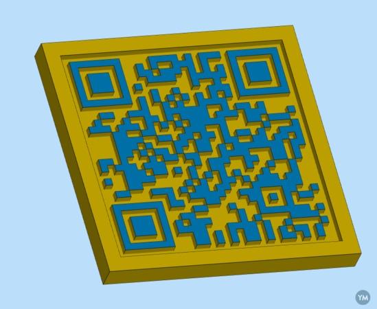 3D printable QR code