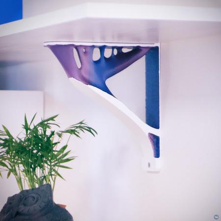 Topology optimized shelf bracket - holds over 80kg each