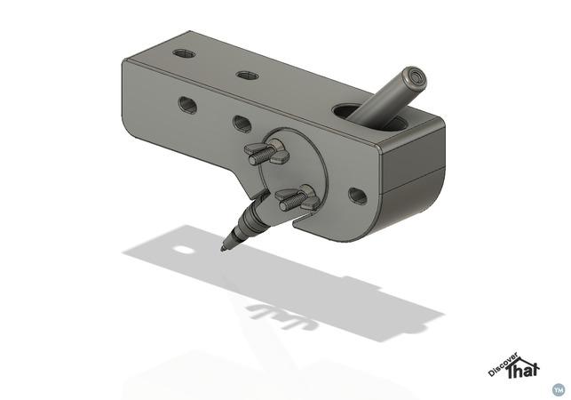 Maker pen holder for a CNC plotter