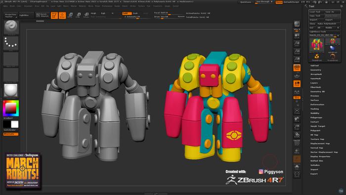 animate 3D robots