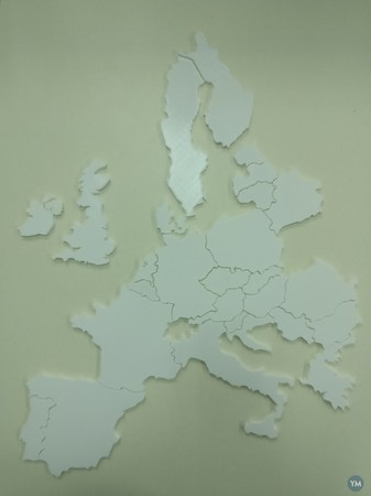 3D map of European countries