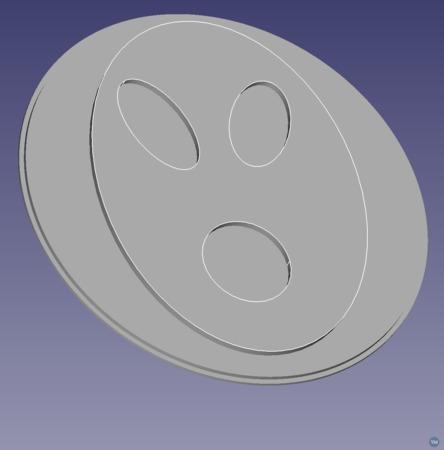 Alien Face Lens Cover