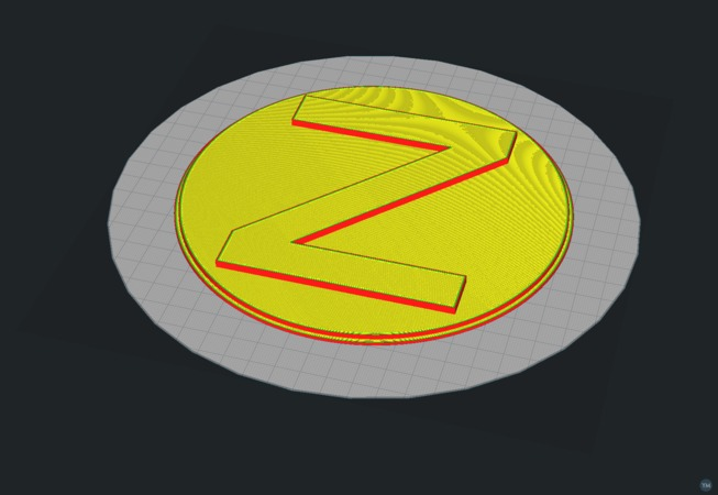 Screen Cover with letter Z
