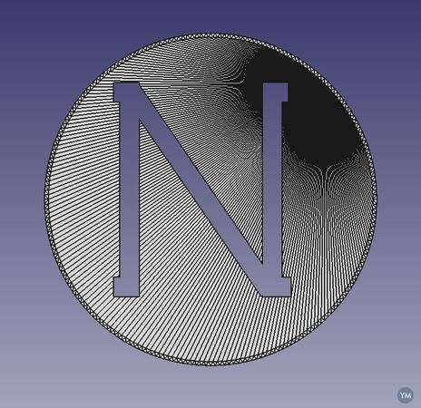 Letter N cut-out lens cover