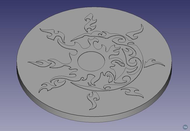 Celtic Sun and Moon Coaster