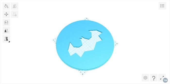 Bat Signal Light cover