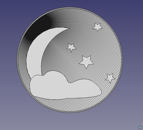 Cloudy Moon Screencover