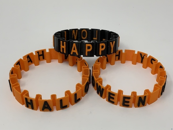 "Happy Halloween ""Somewhat Stretch"" Bracelet"