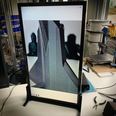 """Simple vertical monitor mount / stand ( for 28"""" Samsung U28E59D monitor )"""
