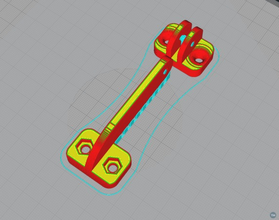 Long hinge for CNC box