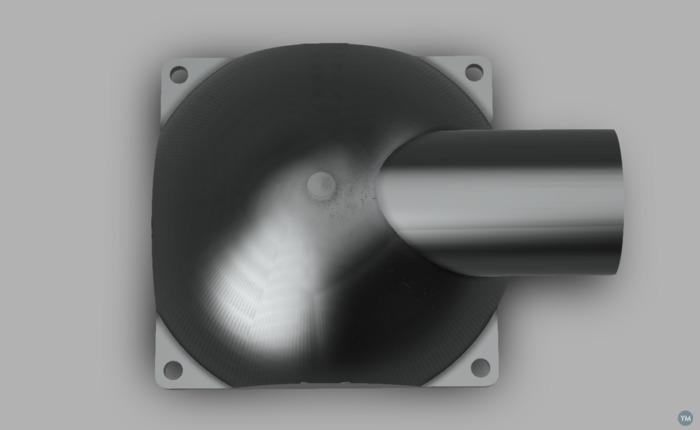 Adapter 80mm Fan to 40mm pipe