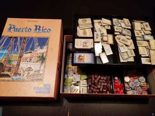 Puerto Rico 10th Anniversary Edition board game insert and organizer