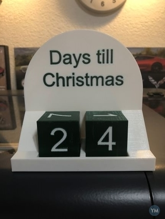 Desk Days Till Christmas