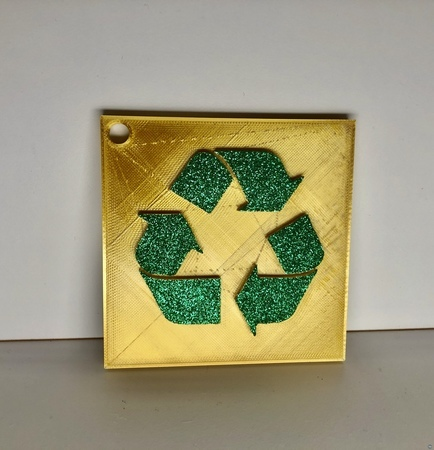 Recycle Sign, Wall/Desk Display or Keychain