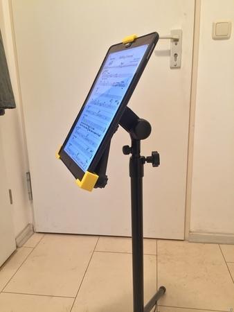 iPad holder music stand