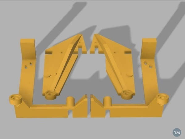 Anet A6 Stabilising Struts and Base Clamp
