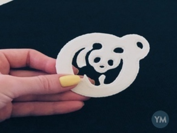 Panda Coffee Stencil