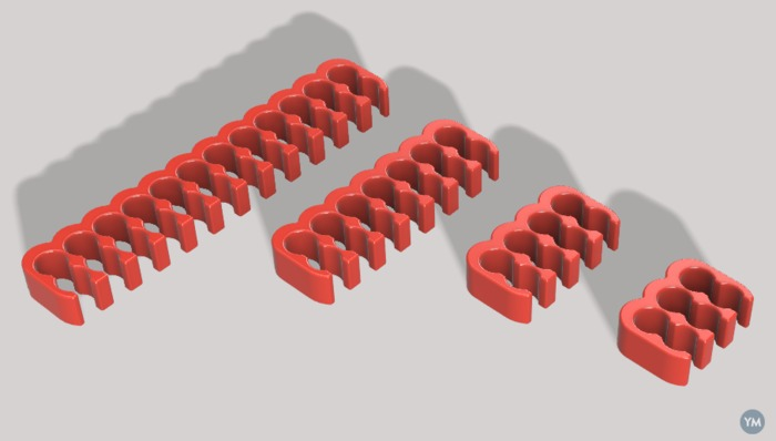 combs for sleeved pc cables