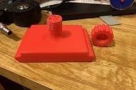 Carousel thumb sanding block