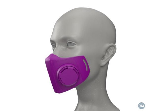 Máscara usando impressora 3D
