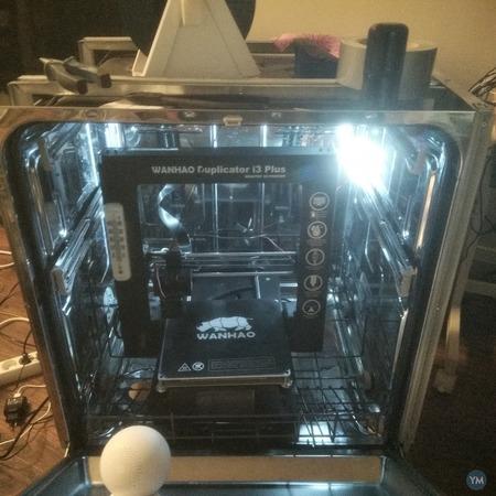3D printer enclosure from broken dishwasher