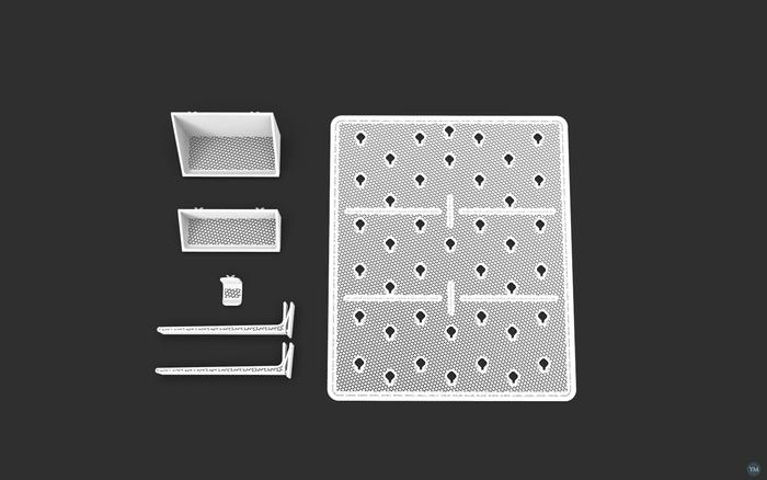 Sixpack - modular bulletin organizer