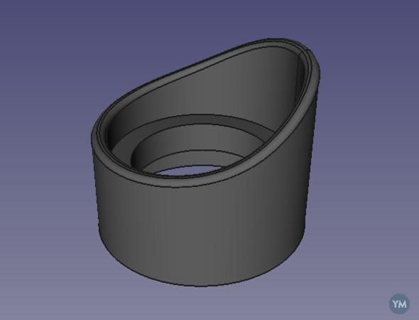 Taller eyecups for SZM7045 trinocular microscope