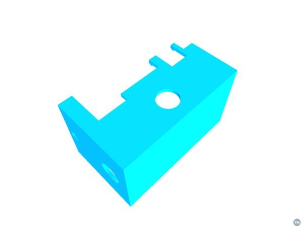 Printrbot Smalls Upgraded XZ Block w/ Electronics Cover
