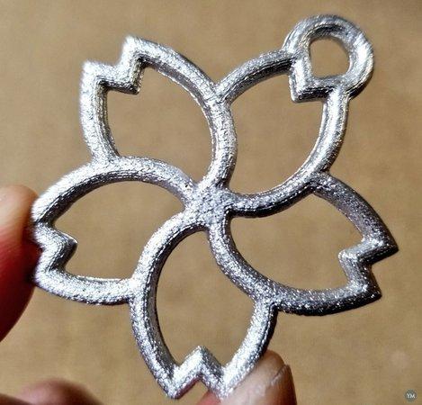 Metal casting Mold (Sakura flower charm)