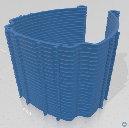 Remix of Protective Visor by 3DVerkstan - for Single extruder stacking