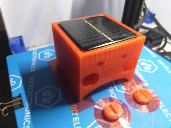 SOLAR RECHARGEABLE DUMMY -TWIN- LED FLASHER HOUSING