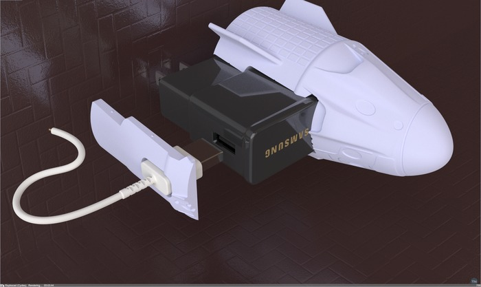 Rocketship (Dragon 2) For Samsung Fast Charger