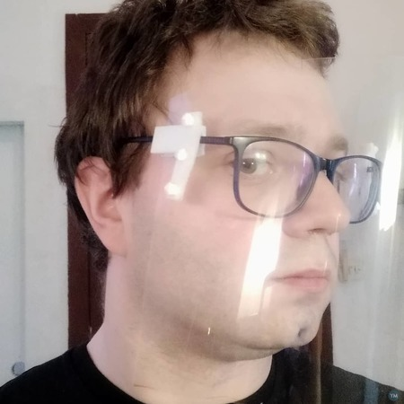Face shield for persons with glasses