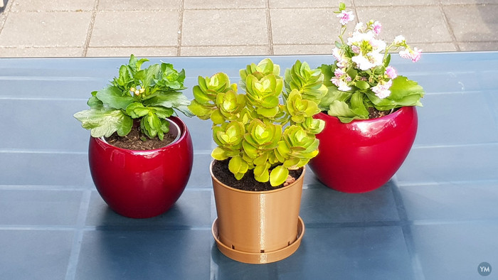 Classic Brown Plant Pot & Water Dish