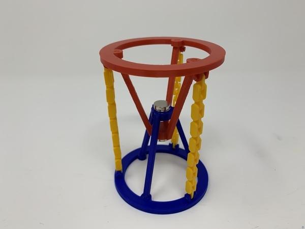 3D Printed Magnetic Tensegrity Model